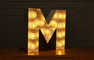 marquee light up letter m goodwin goodwintm london With lighted letter m