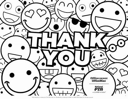 Coloring Teacher Appreciation Pages Week Thank Pta