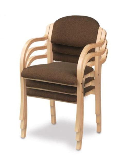 holsag wood arm stacking chair stacking chairs