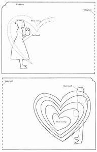 twisting hearts pop up card template gallery template With twisting hearts pop up card template