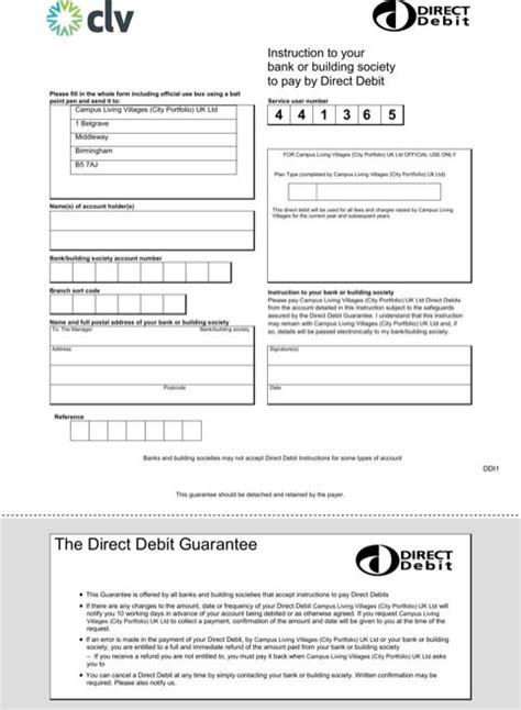 direct debit form templatesforms direct debit templates