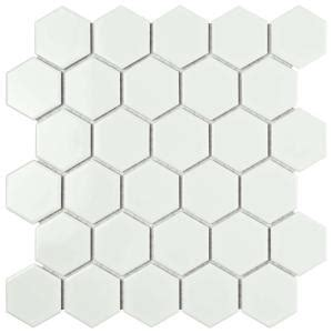 home depot merola hex tile merola tile metro hex 2 in glossy white 10 1 2 in x 11