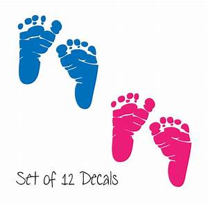 Items similar to 12 Sets of Baby Footprints - Newborn ...