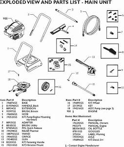 Washer Parts  Task Force 2000 Pressure Washer Parts
