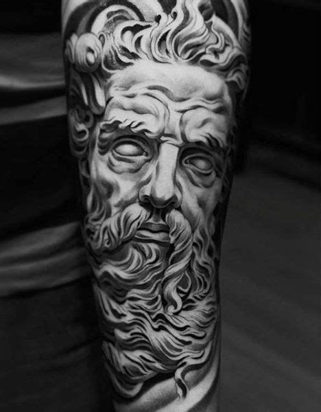 80 Zeus Tattoo Designs For Men - A Thunderbolt Of Ideas | Zeus tattoo, Statue tattoo, Hyper
