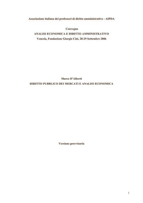 Dispense Diritto Pubblico by Analisi Economica Processo Amministrativo Dispense