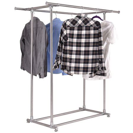 clothes hanging rack walmart stainless steel rail garment rack clothes drying