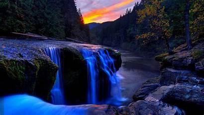 Waterfall Nature Wallpapers Mountain Desktop Backgrounds Computer