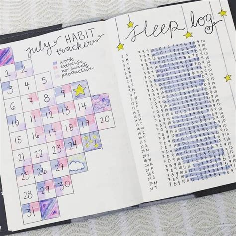 Bullet Journal Sleep Habit Tracker