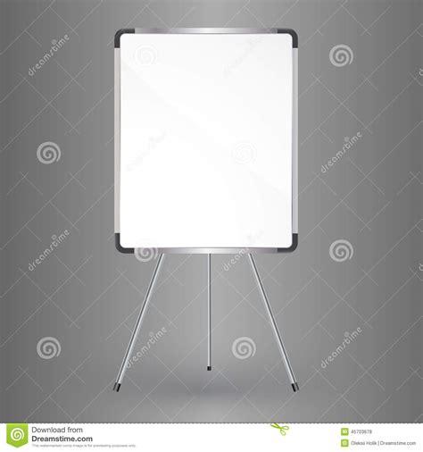tableau de bureau tableau blanc vide de bureau illustration stock image