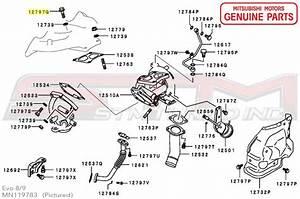 Mn119783 Oem Mitsubishi Manifold To Turbo Bolt Evo Iv
