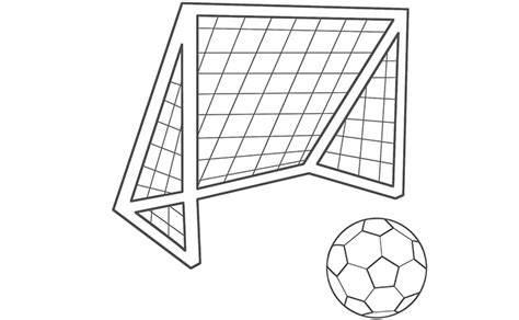 Goal Kleurplaat by Soccer Goal Coloring Pages Get Coloring Pages