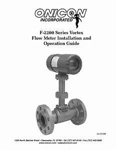 Vortex Flow Meter F-2200 Series Manuals