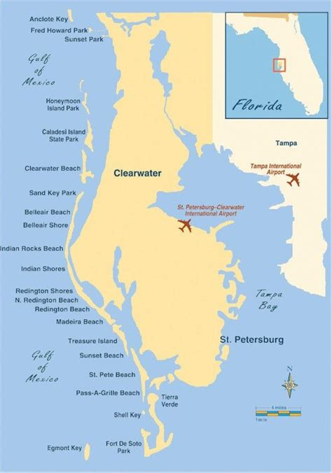 florida beach vacations   education map