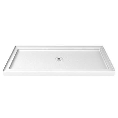 shower bases at lowes shop dreamline slimline white acrylic shower base common