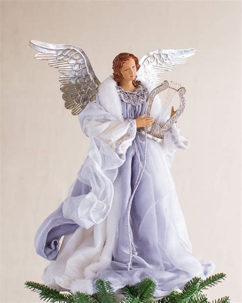 battery operated angel tree toppers metallic tree topper balsam hill