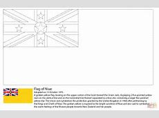 Flag of Niue coloring page Free Printable Coloring Pages