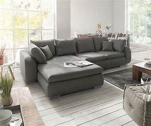 Graue Couch Wohnzimmer : ecksofa maxie 330x178 cm grau mit schlaffunktion m bel ~ Michelbontemps.com Haus und Dekorationen