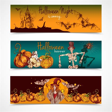Rated 5.00 out of 5 based on 4 customer ratings. Halloween colored banners horizontal - Download Free ...