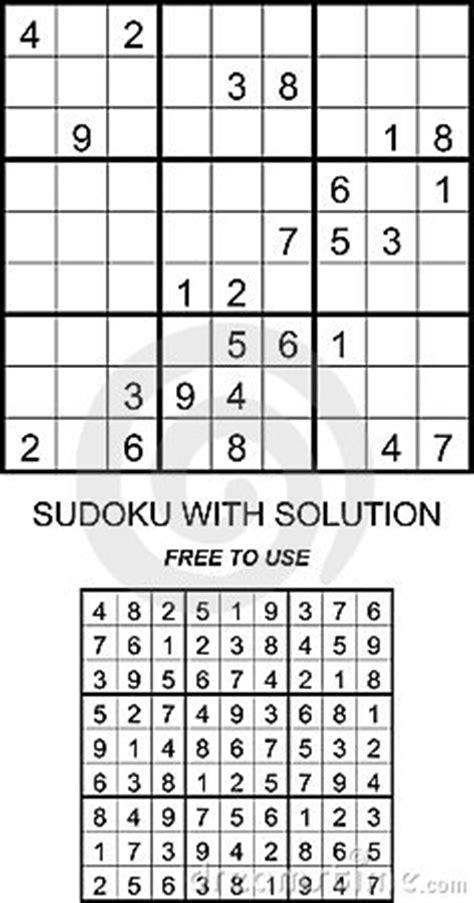 sudoku met oplossing vrij te gebruiken royalty vrije stock