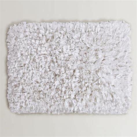 world market bath rugs white jersey shag bath mat world market