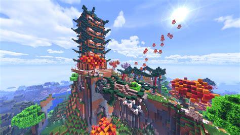 ultimate oriental survival base mapbuilding minecraft pe maps