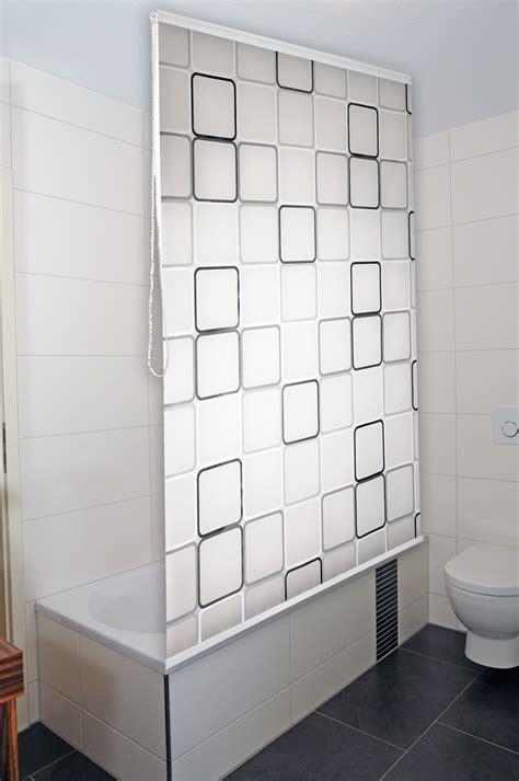 design duschvorhang duschrollo duschvorhang badewannenvorhang halbkassette rollo für bad und dusche ebay
