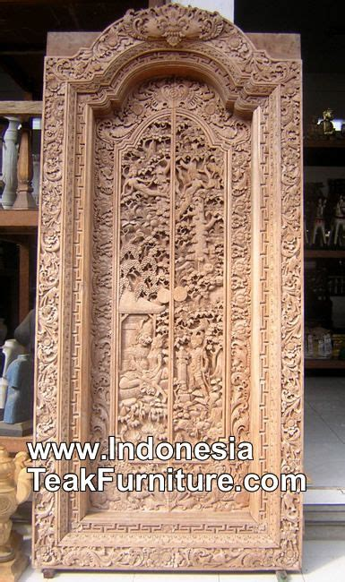 handcarved door  bali indonesia  traditional