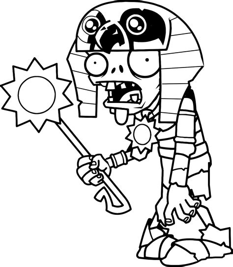 original coloring pages plants  zombies  egyptian