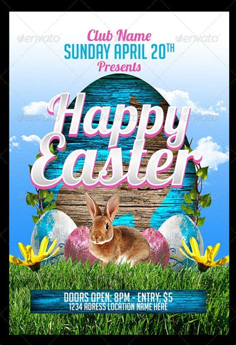 easter flyers  psd ai vector eps format