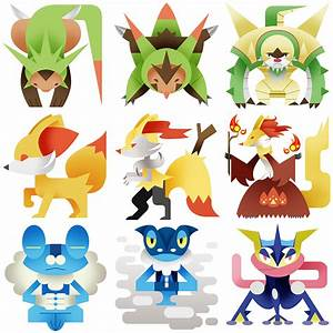 The gallery for --> All Pokemon Starters Gen 6