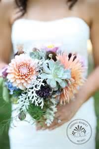 popular bridal registries dahlia and succulent wedding bouquet recipes