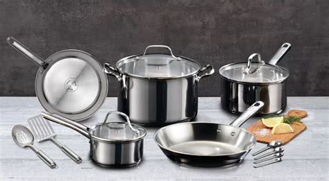 fal  fal pc stainless steel cookware set