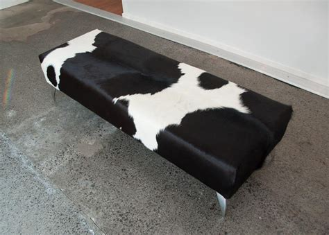 Cowhide Bench Seat by Cowhide Bench Ottoman Auckland Gorgeous Creatures Bench