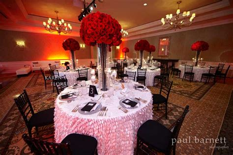 wedding ideas red black and white theme