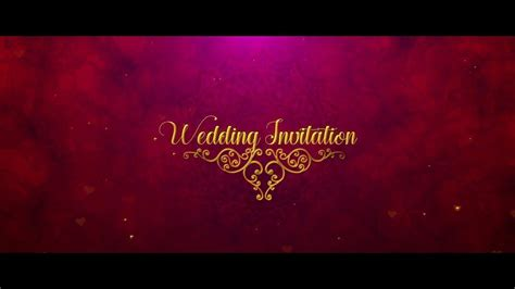 indian wedding invitation  effects templates