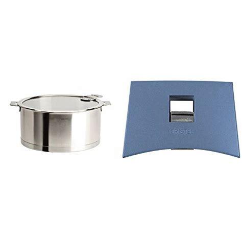 cristel strate cqlksa saucepan  quart silver  cristel mutine spplmabl set  handles