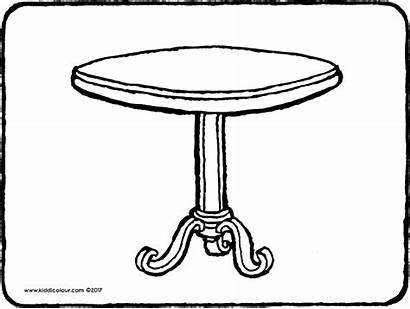 Table Coloring Round Colouring Pages Drawing Tables