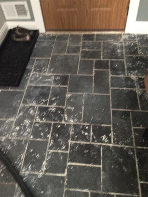 removing grout from slate tile removing paint from slate tile help
