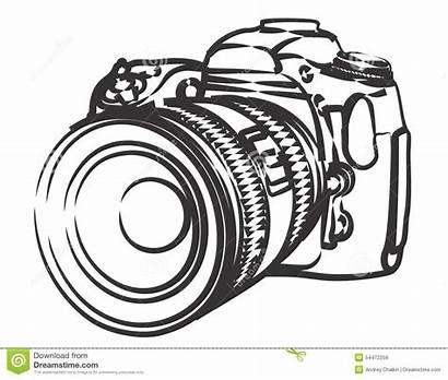 Camera Sketch Professional Kamera Clip Skizze Slr