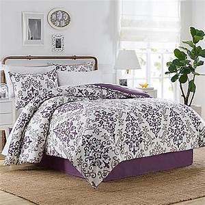 Carina 6 8 Piece Comforter Set In Purple Bed Bath Beyond