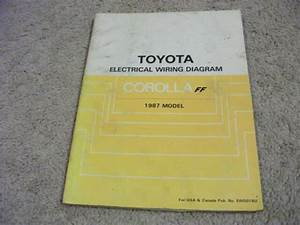 1987 Toyota Corolla Ff Electric Wiring Diagrams Service