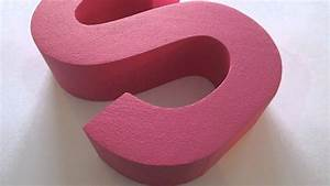Styrofoam letters for shop window displays youtube for Where to buy foam letters