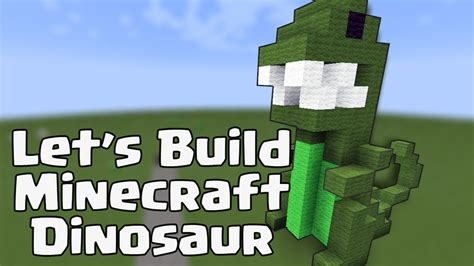 lets build  minecraft dinosaur building idea youtube
