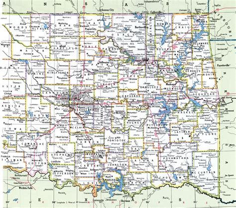 oklahoma county maps  cities  travel information