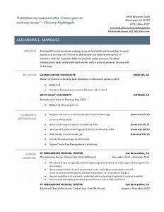 New grad rn resume for Graduate rn resume