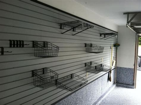 Garage Wall Systems by Garage Organization Slatwall Storage Systems And Shelving