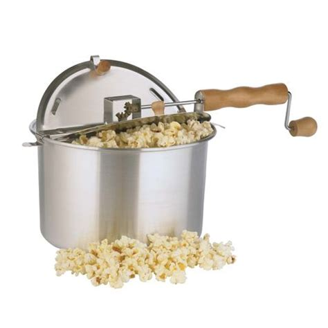popcorn popper stove pop whirley aluminum qt silver corn kettle makers poppers maker cabela fresh grey stovetop easy ace hardware