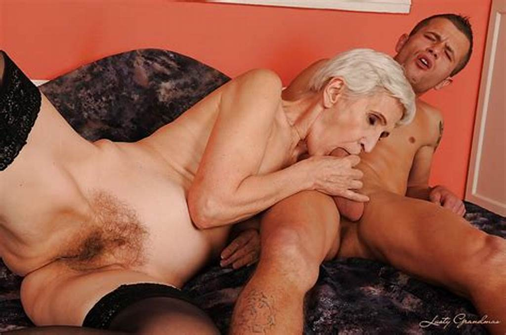 #Short #Haired #Granny #In #Stockings #Gives #A #Blowjob #And #Gets