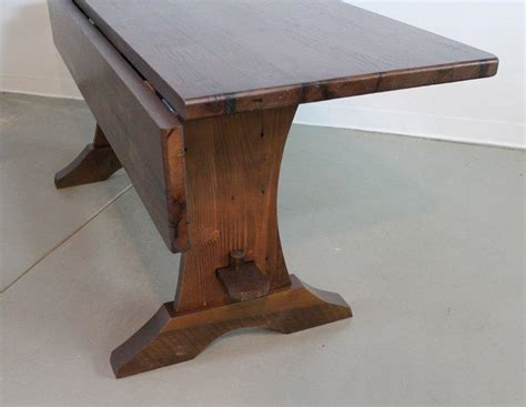vintage trestle table drop leaf trestle table from salvaged pine ecustomfinishes 3261